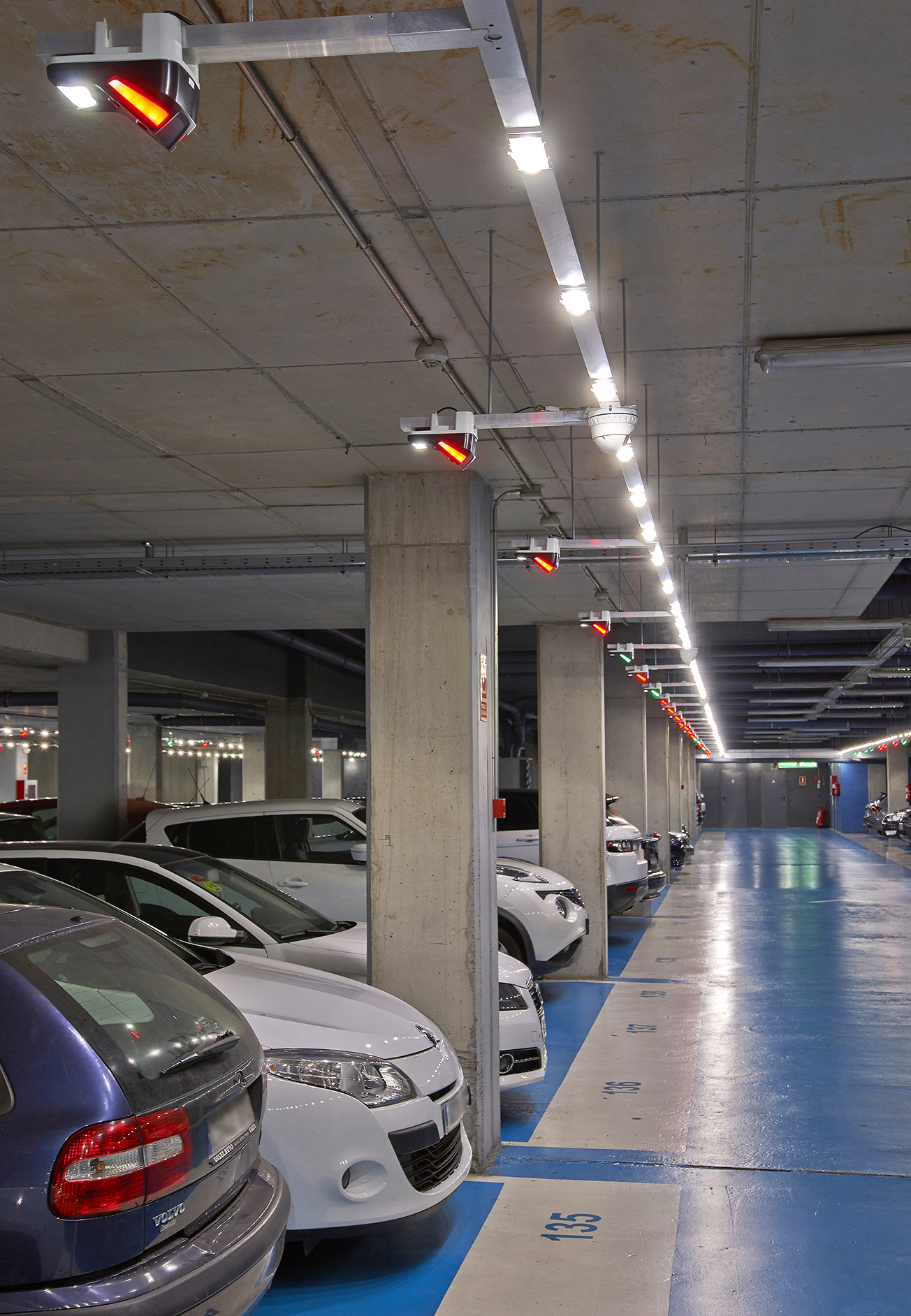 Parking LED lighting system